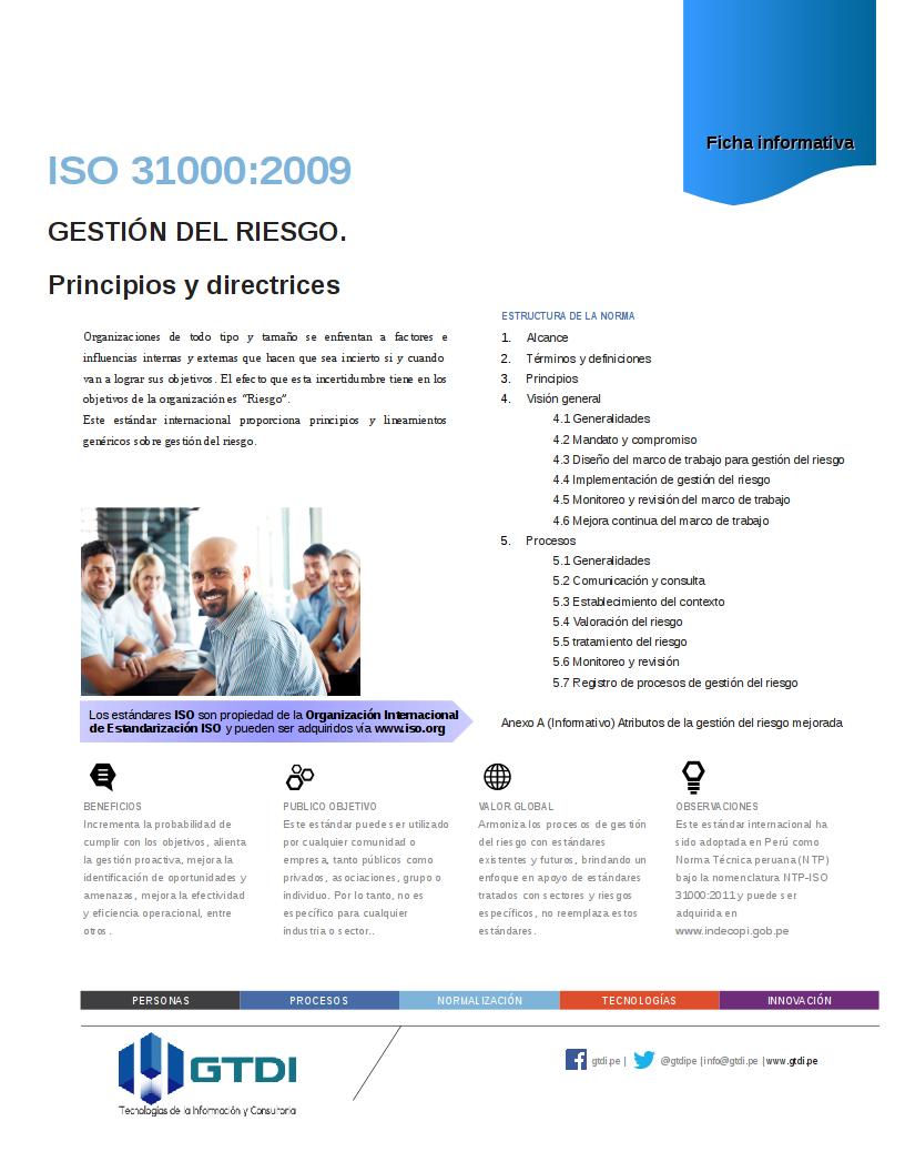 iso 31000 ntp 2009